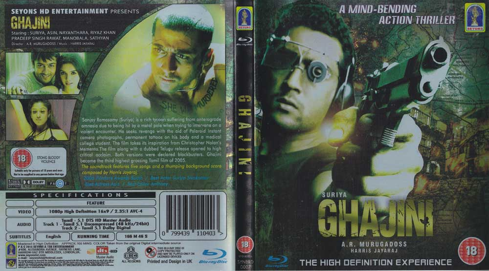 Ghajini (2005) HD 720p Tamil Movie Bluray Watch Online