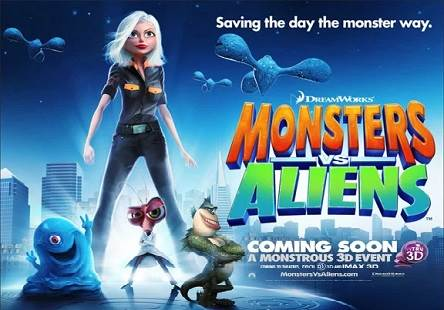 Monsters vs Aliens (2009) Tamil Dubbed Movie HD 720p Watch Online
